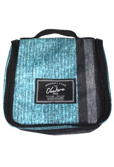 Royal Pinstripe Travel And Toiletries Organizer