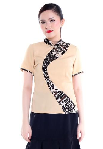 DhieVine Batik black and multi and brown Parnika Ayu Qibao Batik Blouse F303EAA1347F3FGS_1