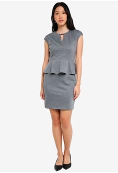 32% OFF ZALORA BASICS Peplum Pencil Dress RM 103.00 NOW RM 69.90 Sizes XS S d171b63af