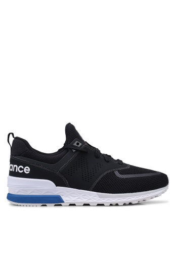 New Balance black 574 Lifestyle Shoes 9800FSH5ECE497GS_1