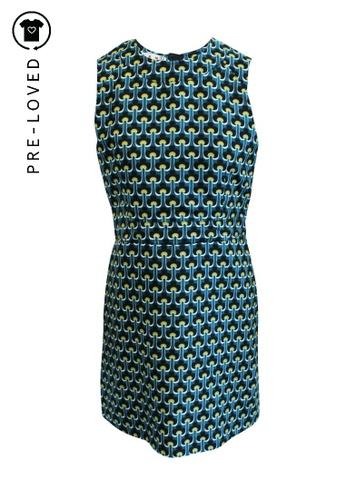 Marni green Pre-Loved marni Multicolour Printed Shift Dress 80D98AAA27B447GS_1