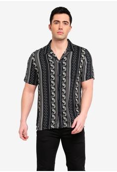 fcdb8980b2c River Island black Aztec Short Sleeve Shirt 031B8AA2A280D0GS 1