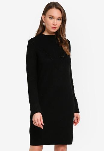 PIMKIE black Knitted Long Sleeve Dress 38984AAA2B3F5BGS_1