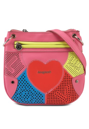 Desigual pink Heart Sling Bag AFA9FKCD92BEEFGS_1