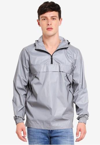 Brave Soul silver Reflective Overhead Hooded Jacket E308CAA27B47E9GS_1