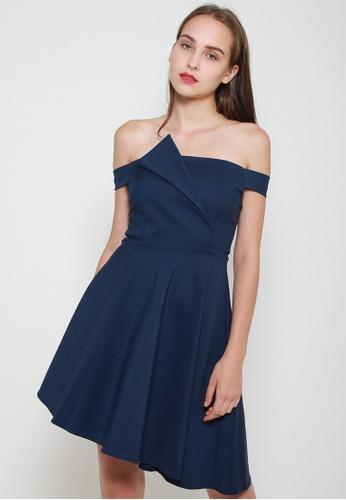 Leline Style blue Alianna OffShoulder Dress 4B018AA5374BDFGS_1