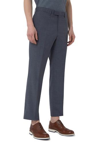 CERRUTI 1881 blue VIRGIN WOOL MELANGE DRESS PANTS 93485AAB2064EDGS_1