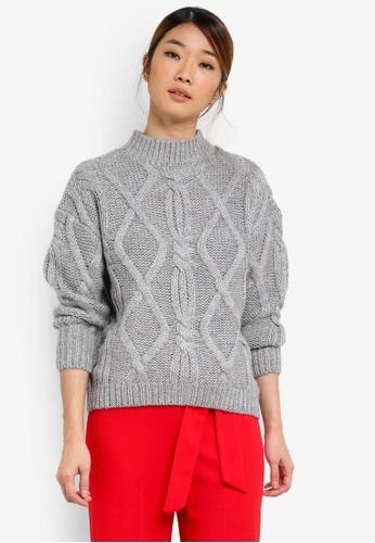 Miss Selfridge grey Petite Chunky Knitted Jumper MI665AA0SHV5MY_1
