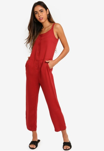 Something Borrowed 紅色 Pinafore Jumpsuit 8C192AA35A85EDGS_1