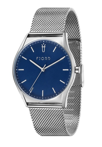 Fjord silver Fjord Men's Mesh Band Watch - FJ-3029-22 0BF8BAC7904BF6GS_1
