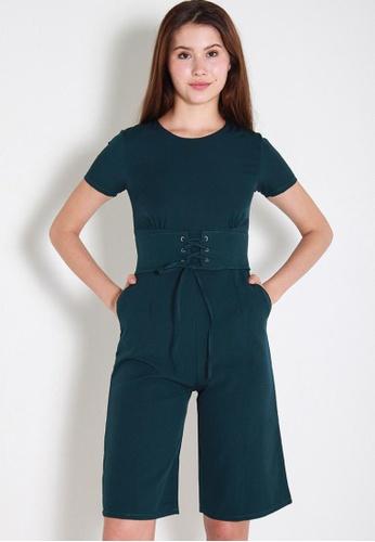 Leline Style green Yilva Romper LE802AA0FEZQSG_1