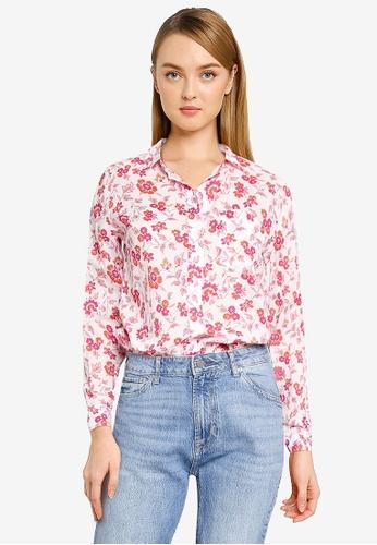 GAP white Patterned Long Sleeve Shirt 3CF22AA273AD4FGS_1