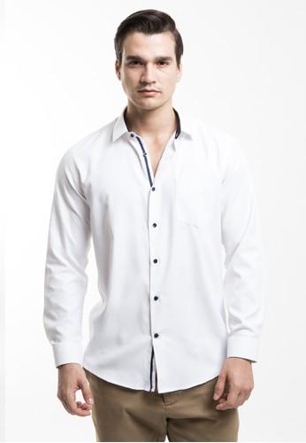 MANLY white MANLY Kemeja Slim Fit Lukeman White 74095AAA81D53DGS_1