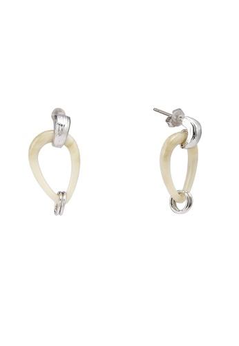 niko and ... beige Teardrop Dangle Earrings 8A31AAC907EA28GS_1