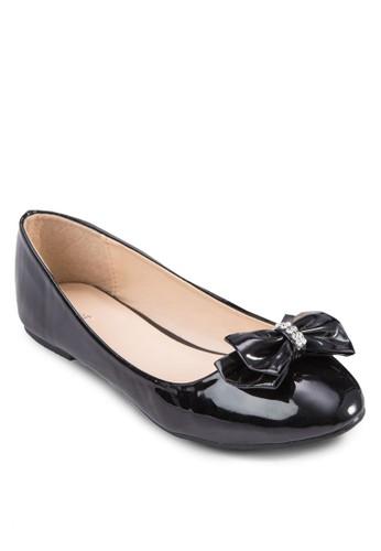 閃zalora 心得 ptt鑽蝴蝶結平底鞋, 女鞋, 鞋