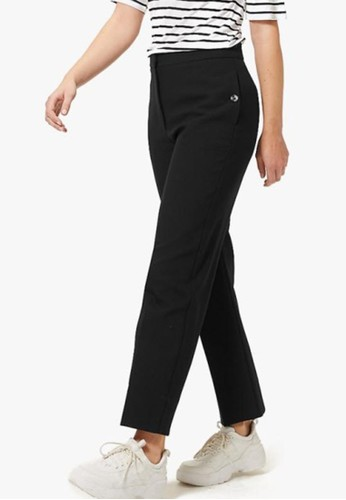MARKS & SPENCER black Evie Straight 7/8Th Trousers 0ABE3AA52747C8GS_1