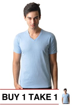 Newyork Army V-neck Men's Plain Shirt with Shoulder Lining