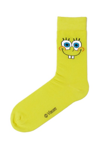 H&M yellow Spongebob Socks E41ECAAA8EF86BGS_1