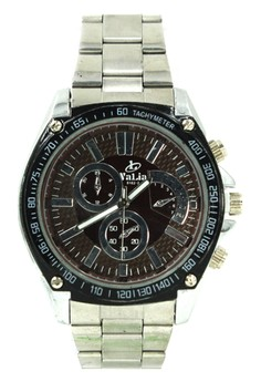 Valia Terry Unisex Brown Stainless Steel Strap Watch 8162-2
