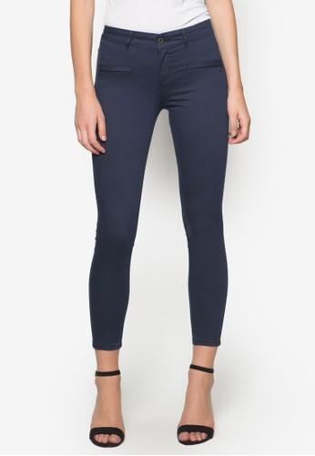 基本款窄管休閒長褲,zalora 衣服尺寸 服飾, 緊身褲