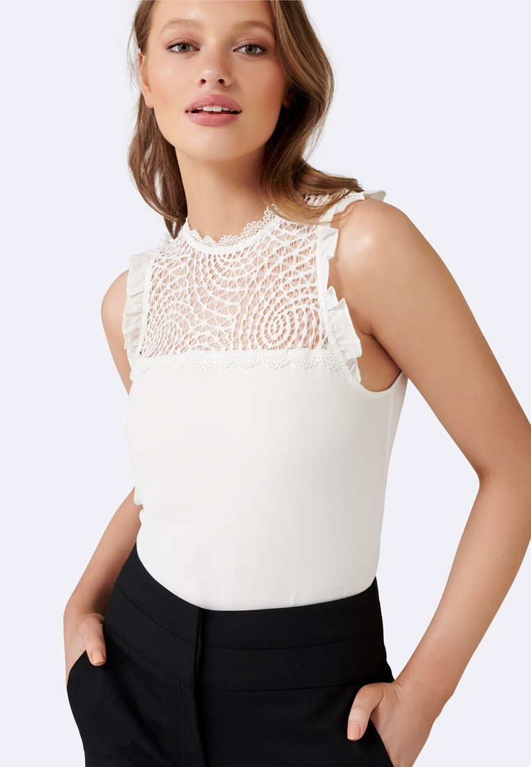 Essential Delta Lace Tank Porcelain Forever Spliced New 85qnxHTI