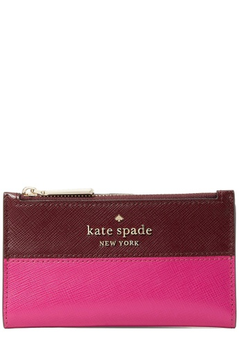 Kate Spade pink Kate Spade Staci Colorblock Small Slim Bifold Wallet in Pink Multi 2238DAC293B43FGS_1