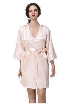 f4e8d87516 SMROCCO pink Lottie 2 in 1 Robe + Dress Sleepwear Lingerie L8001-PI  E4D92AA184E9A0GS 1