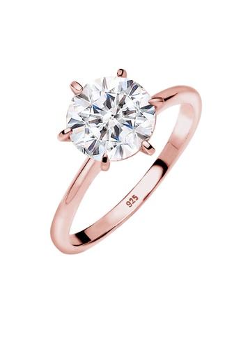 Elli Germany gold Elli Germany Ring 925 Sterling Silver Rosegold-Plated Swarovski Crystals 04815AC41DFA3BGS_1