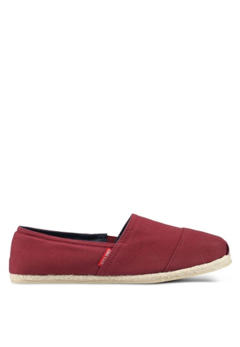 Jack & Jones red Canvas Espadrille Slip-Ons D7F8CSH7FB968AGS_1