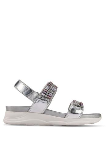 ALDO silver Eloima Flat Sandals EBCA6SH00DE077GS_1