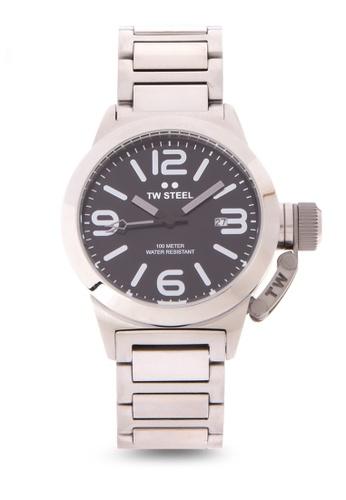 TW Steel silver TW300 Canteen Bracelet 40mm Analog Watch TW310AC0KMCUPH_1