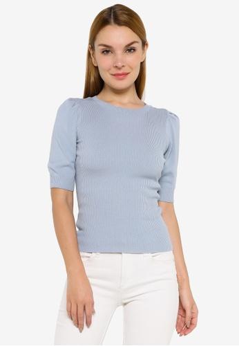 JACQUELINE DE YONG blue Kady Short Sleeve Pullover 8B036AAD2941C6GS_1