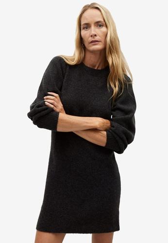 Mango grey Short Knit Dress 1EF84AA9CF3538GS_1