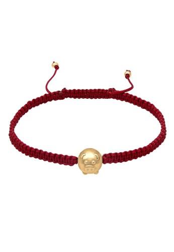 Elli Germany red Perhiasan Wanita Perak Asli - Silver Gelang Chinese Year of the Pig Nylon Merah 70253ACD0930BDGS_1