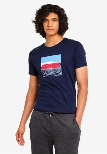 ddada46bc LC Waikiki navy Short Sleeve Crew-Neck Printed T-Shirt 0E2B9AA9608921GS_1