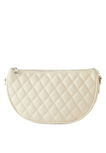 PIMKIE beige Quilted Crossbody Bag 850CCAC790D05CGS_1