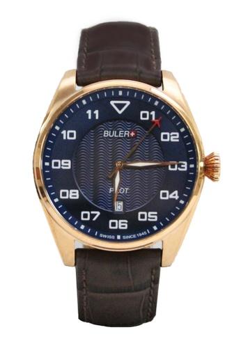 Buler brown and blue Buler Sport Watch - Blue - Gents - Date- 3H BU689AC2VG1JHK_1