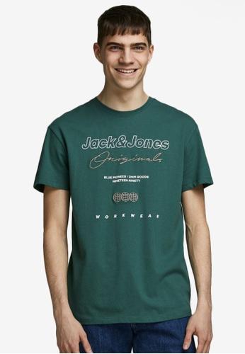 Jack & Jones green Relaxed Short Sleeves Tee DB26FAA70BD60EGS_1
