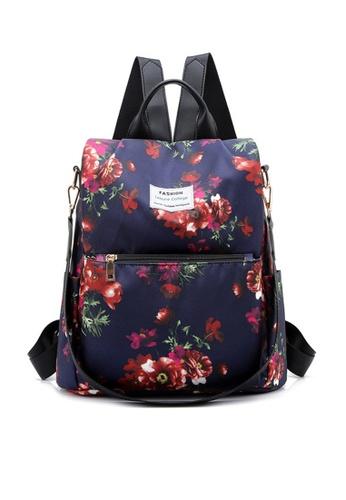 Twenty Eight Shoes navy VANSA Floral Printed Nylon Oxford  Backpacks VBW-Bp1047 3B4E8AC9F55752GS_1
