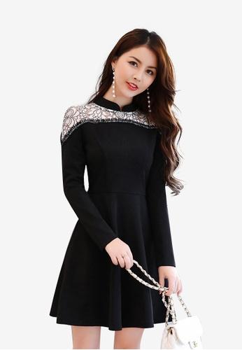 Lara multi A/W Flare Dress for women A450AAA9DC55A4GS_1