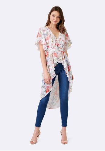 Forever New Hanna High Low Button Front Top 2335CAAAFF821BGS_1