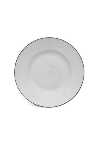Minh Long I white Blue Line: Porcelain Flat Round Plate (27cm) 3019EHL13EB66DGS_1