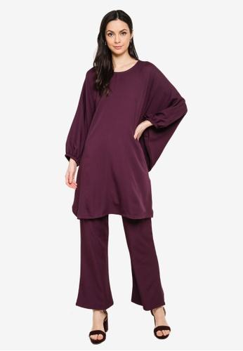 Butik Sireh Pinang purple Zalikha Blouse Suit Kaftan 3D380AA3EBDBE9GS_1