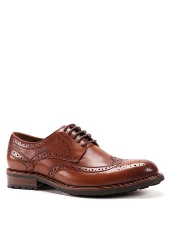 Twenty Eight Shoes 真皮復古雕花德比鞋268-9C FBBA3SH3F5DF86GS_1