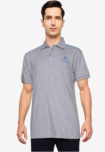 Fidelio grey Summer Cup Sailing Polo Shirt 83D2EAAE4D323EGS_1