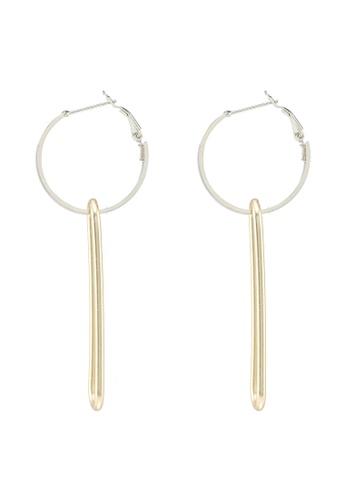 Red's Revenge gold Oblong Gold Dangle Earrings FBEC9AC4E41FA2GS_1
