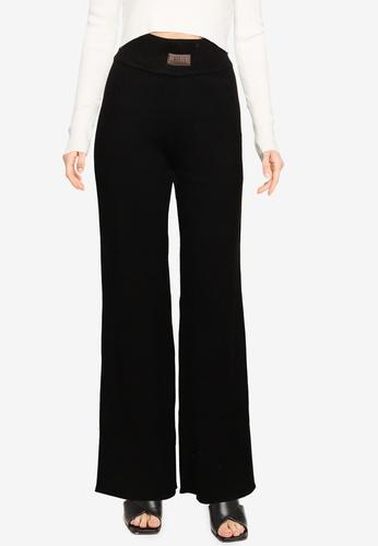 MISSGUIDED black Co Ord Wide Leg Trousers E264FAAE775240GS_1