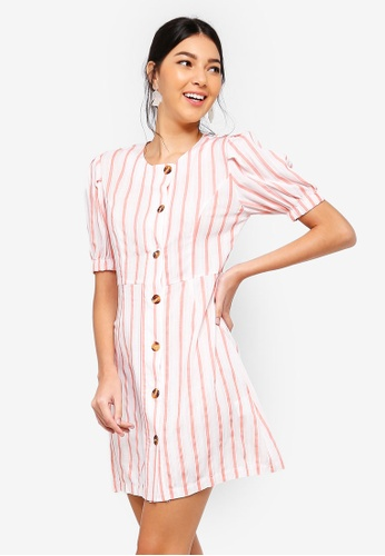2f8057b93a Buy ZALORA Button Detail Balloon Sleeves Dress Online on ZALORA Singapore
