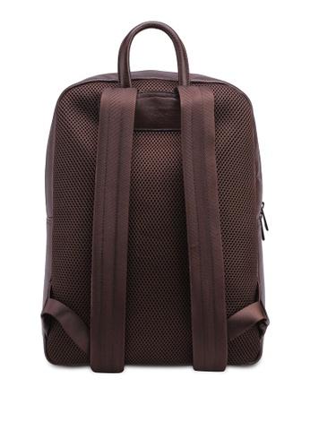 Volkswagen brown Volkswagen Genuine Leather Backpack DE3F0AC52B65B7GS_1