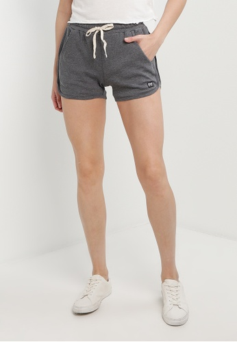 UniqTee grey Fitness Shorts with Elastic Waistband B2246AA2148B27GS_1